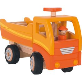 Oranžové velké nákladní auto