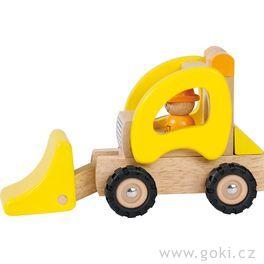 Dřevěné nakládací autíčko