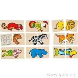 Pexeso apuzzle vjednom – Veselá zvířátka