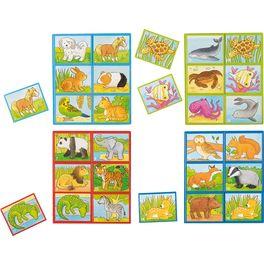 Zvířecí děti –didaktická paměťová hra