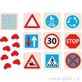 Dřevěné pexeso – Dopravní značky, 32díly