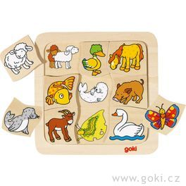 Dřevěné puzzle – Kdokekomu patří?