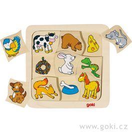 Dřevěné puzzle – Kdocojí?