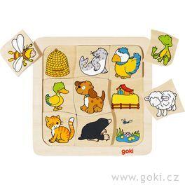 Dřevěné puzzle – Kdokdebydlí?