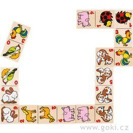 Dřevěné domino zvířátka, 28dílů