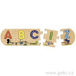 Dřevěné pokládací puzzle – Abeceda, délka 130cm
