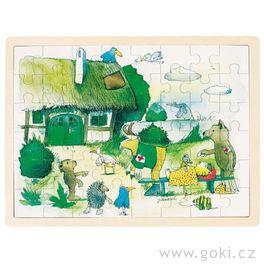 *AKCE* Dřevěné puzzle Janosch – malý tygr jenemocný, 48dílů