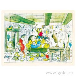 *AKCE* Dřevěné puzzle Janosch – oslava, 96dílů