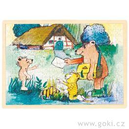 *AKCE* Dřevěné puzzle Janosch – pošta, 96dílů