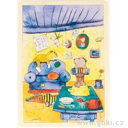 *AKCE* Dřevěné puzzle Janosch – nagauči, 96dílů