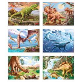 Kostky vdřevěné krabičce –Dinosauři