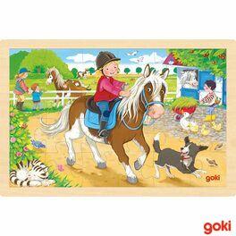 Dvůr sponíky –dřevěné puzzle, 24díly