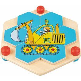 Puzzle staveniště vetvaru včelí plástve