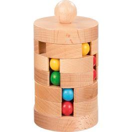 Kuličkový hlavolam zedřeva –logická hra
