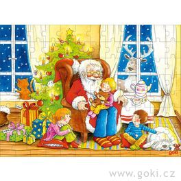 Dřevěné puzzle – Štědrý den, 96dílů