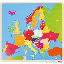 Dřevěné puzzle nadesce – Evropa, 35dílů
