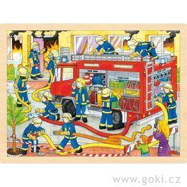 Puzzle – hasiči při zásahu, 48dílů