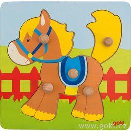 Koník – puzzle súchytkami