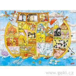 Noemova Archa – dřevěné puzzle proděti, 48dílů
