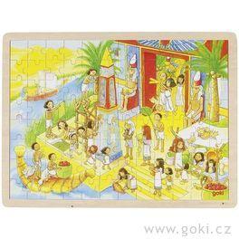 *AKCE* Dřevěné puzzle vestarověkém Egyptě, 96dílů