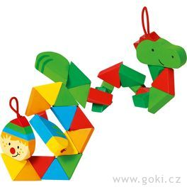 Puzzle skládačka krokodýl aklaun