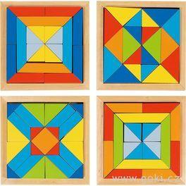 Dřevěný hlavolam – Mozaika