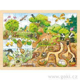 Příroda – dřevěné puzzle 96dílů