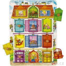Puzzle sdřevěnými úchytkami – Naše vila