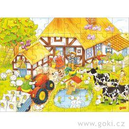 Puzzle – Ubabičky adědečka nafarmě, 48dílů