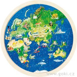 Oboustranné puzzle – Zeměkoule, 57dílů