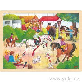 Puzzle nadesce – Jezdecké závody, 96dílů