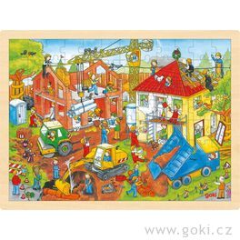 Puzzle nadesce – Stavba, 96dílů
