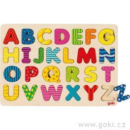 Dřevěné puzzle nadesce – Abeceda II,26dílů