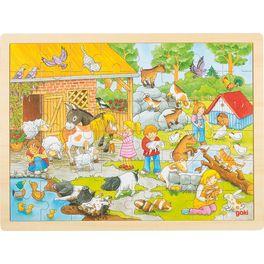 Hladící ZOO– puzzle sezvířátky, 48dílů