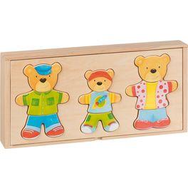 Šatní skříň – medvědí rodinka, 18motivů, 54díly