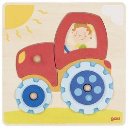 Nasunovací puzzle – Traktor skolečky, 6dílů