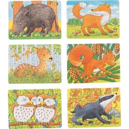 Puzzle mini – Lesní zvířátka, 24díly