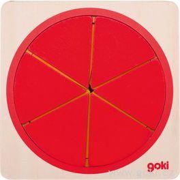 Vícevrstvé puzzle – Kruh, 6vrstev, 21dílů