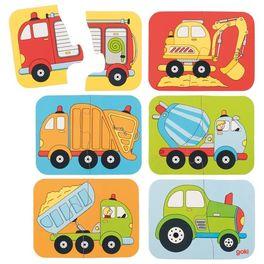 Minipuzzle dopravní prostředky, 12dílů