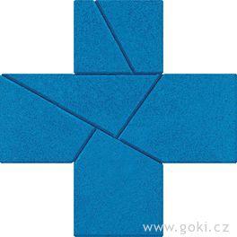 Kamenné puzzle zpropadený kříž, 6dílů – goki stone