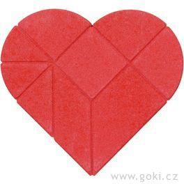 Kamenné puzzle srdce, 9dílů – goki stone