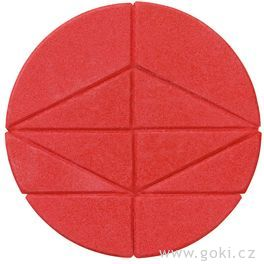 Kamenné puzzle kruh, 10dílů – goki stone
