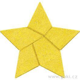 Kamenné puzzle hvězda, 5dílů – goki stone