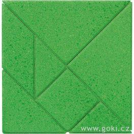 Kamenné puzzle čtverec, 7dílů – goki stone