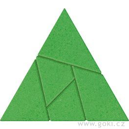 Kamenné puzzle trojúhelník, 5dílů – goki stone