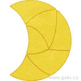 Kamenné puzzle měsíc, 6dílů – goki stone