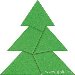 Kamenné puzzle vánoční strom, 5dílů – goki stone
