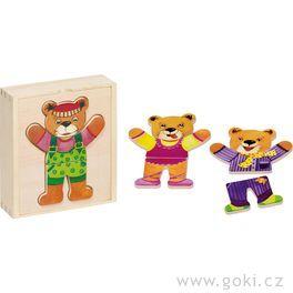 Puzzle – Šatní skříň medvěd II,6motivů, 18dílů