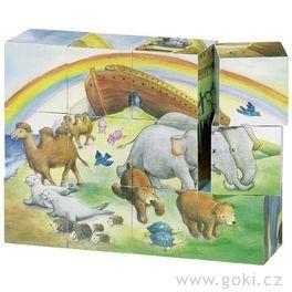 Kostky vdřevěné krabičce – Noemova archa