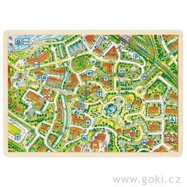 *AKCE* Dřevěné puzzle nadesce – mapa města, 192díly